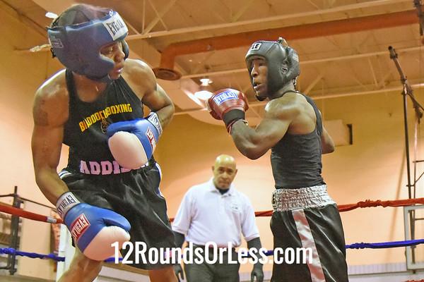 Bout 7 Cordell Powell, 24 yrs, 135 lbs, MJO Rec -vs- Damien Addison, 23 yrs, 132 lbs, Coach Robinson
