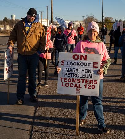 2021 03 11 Teamsters 120 Marathon Lockout Solidarity Picket Line