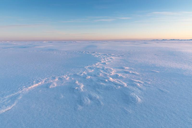 Snowpatterns on the sea at Hailuoto