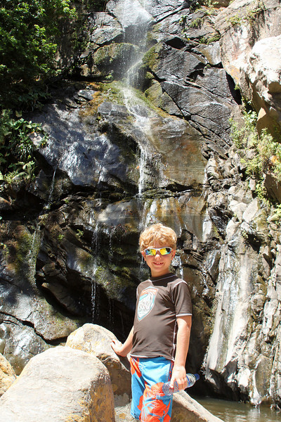 "Harry in front of the ""waterfall"" at the mountain village of Yelapa."