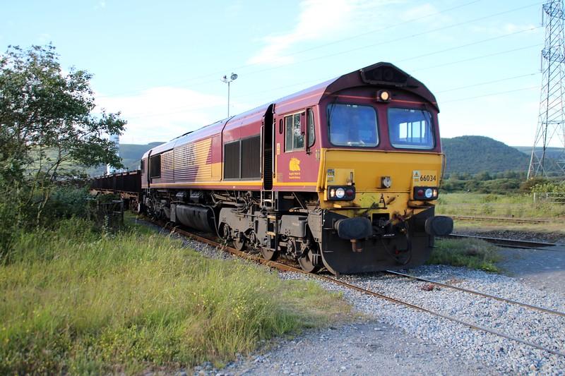 66034 1905/6B20 Troste-Margam arrives into Margam Knuckle Yard    13/06/14