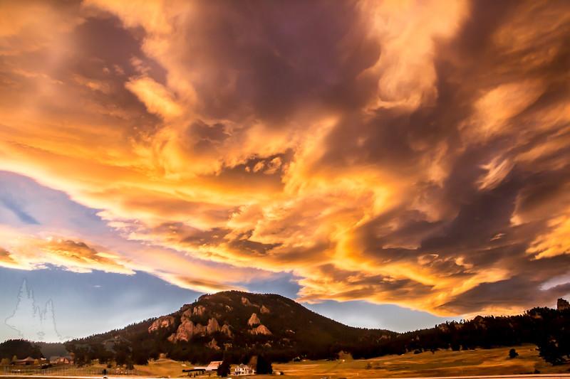 Sunset over Meyer Ranch