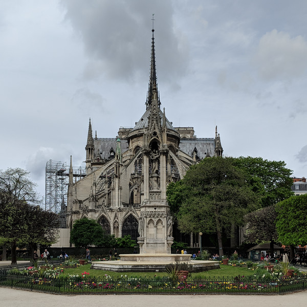 Rear of Notre Dame