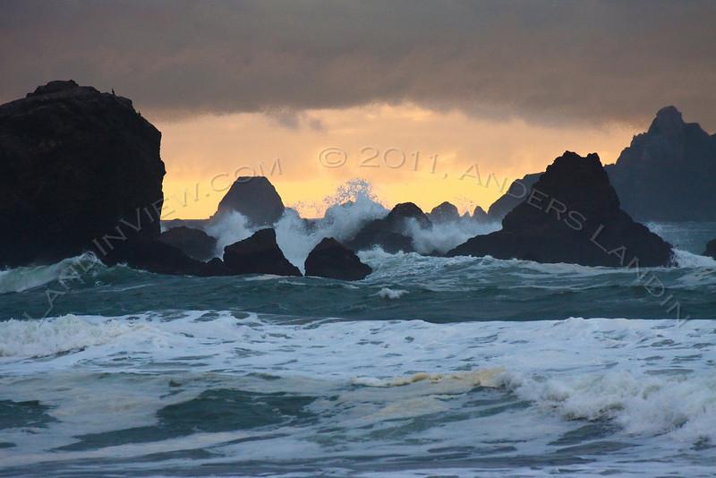 Rocky coastline, Rockaway Point and Pedro Point
