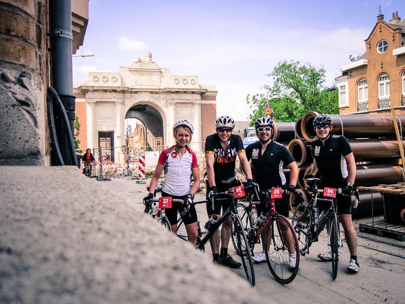 Our little pack at the Menin Gate. Gemma, Steve, Chris, Alastair