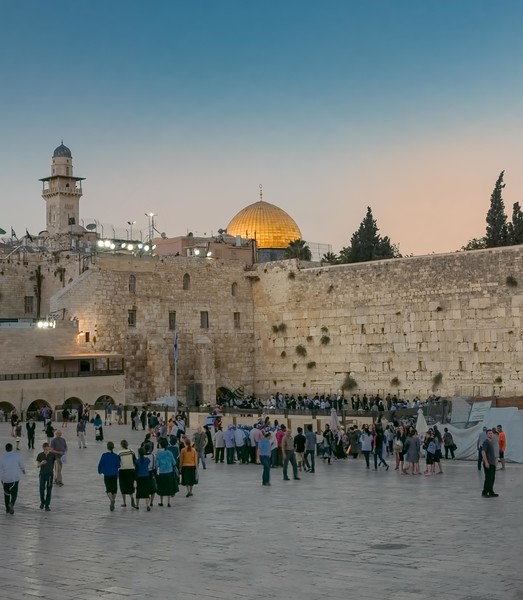 Western Wall at Dusk. Jerusalem.