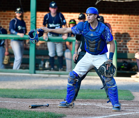 7/5/2019 Mike Orazzi | Staff The Bristol Blues's Sam Loda (14) Friday night at Muzzy Field.