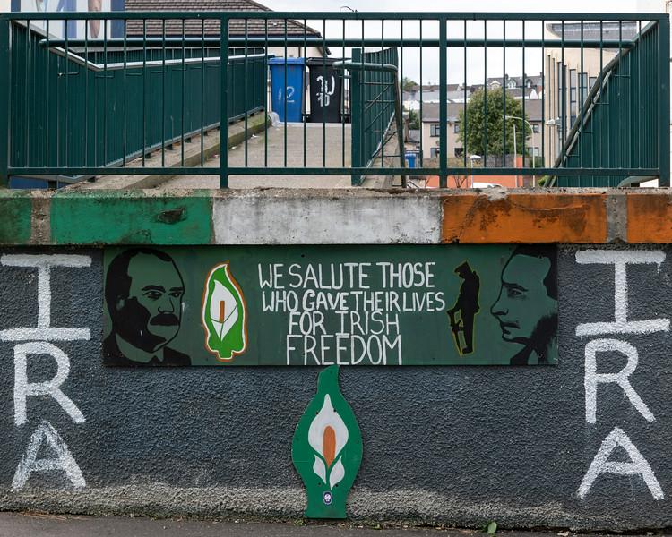Poster praising Irish Republican Army, Free Derry, Londonderry, Northern Ireland, United Kingdom
