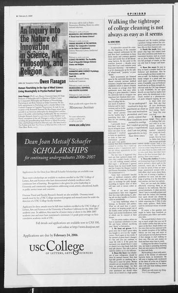 Daily Trojan, Vol. 157, No. 18, February 06, 2006