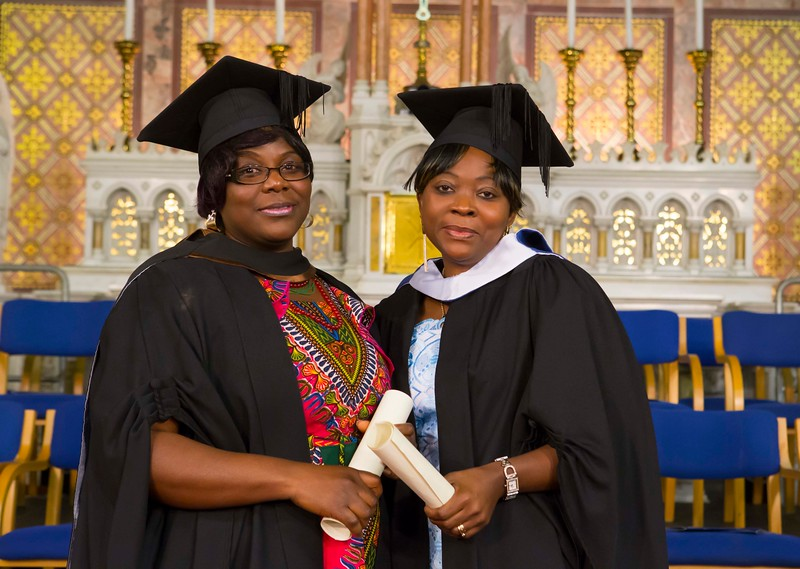 Waterford Institute Of Technology Conferring. Pictured at WIT Waterford Institute Of Technology Conferring are Mililia Wiredu and Therese Tioffo who  graduated Bachelor of Arts (hons) in Social Care. Picture: Patrick Browne