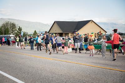 Timeless Aid Station at the Ogden Marathon 2018