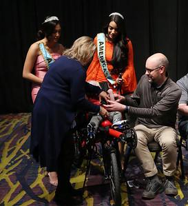 BIKE WORD / Joe N. assist in presenting a special needs Bike ... 2019 Variety Telethon