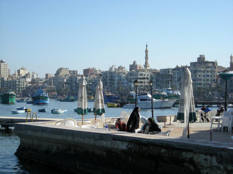 view of the Alexandria corniche