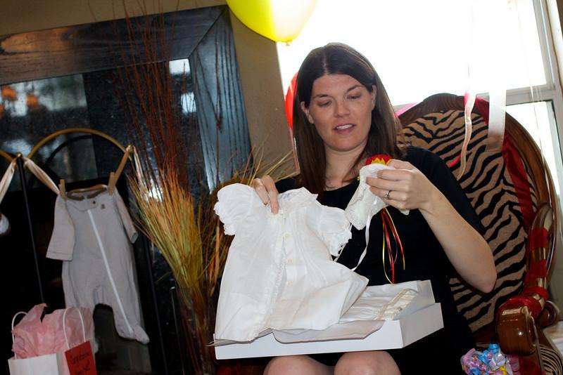 Kati & Randy's baptism gowns... recovered post-Katrina!
