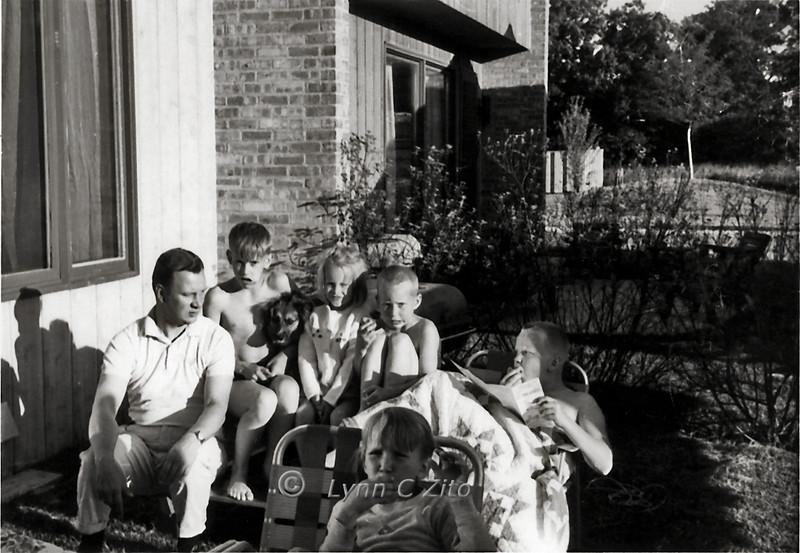 DAD,CRAIG,BROWNIE,JOY,SCOTT,MARK & LYNN PICKWICK PLACE JUNE 10,1966