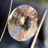 9.44ct Oval Peach Sapphire, with GIA No-Heat 26