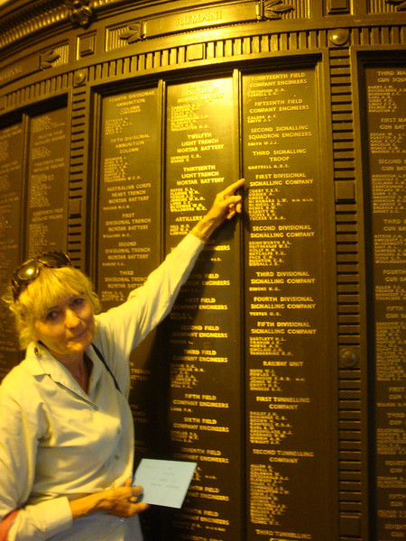 To see my great grandfather's name on the honour roll. He was a casualty of WW II.