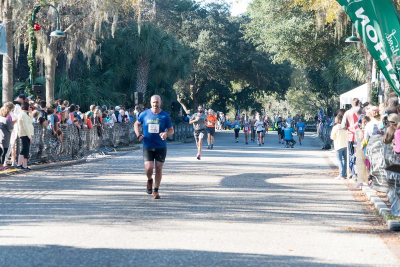 Mark and Bill run in the Kiawah Marathon