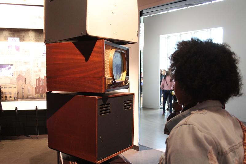 GWU students visit the Civil and Human Right Museum in Atlanta, Georgia.