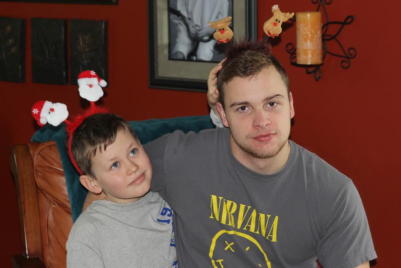 "2 sweet boys in their Christmas ""antennas"""