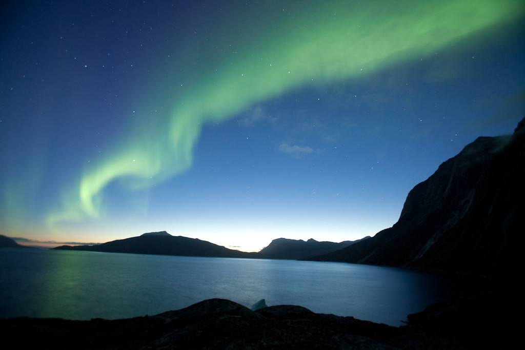 . Ice Cold Gold. Aurora Borealis in Greenland. Peter Stoddard/Discovery Communications