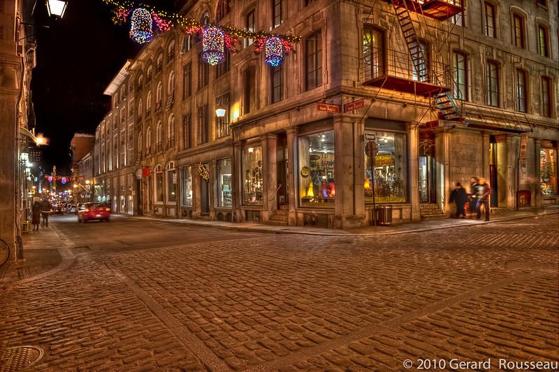 Vieux Montréal coin Saint-Sulpice & Saint-Paul Ouest dec 2010