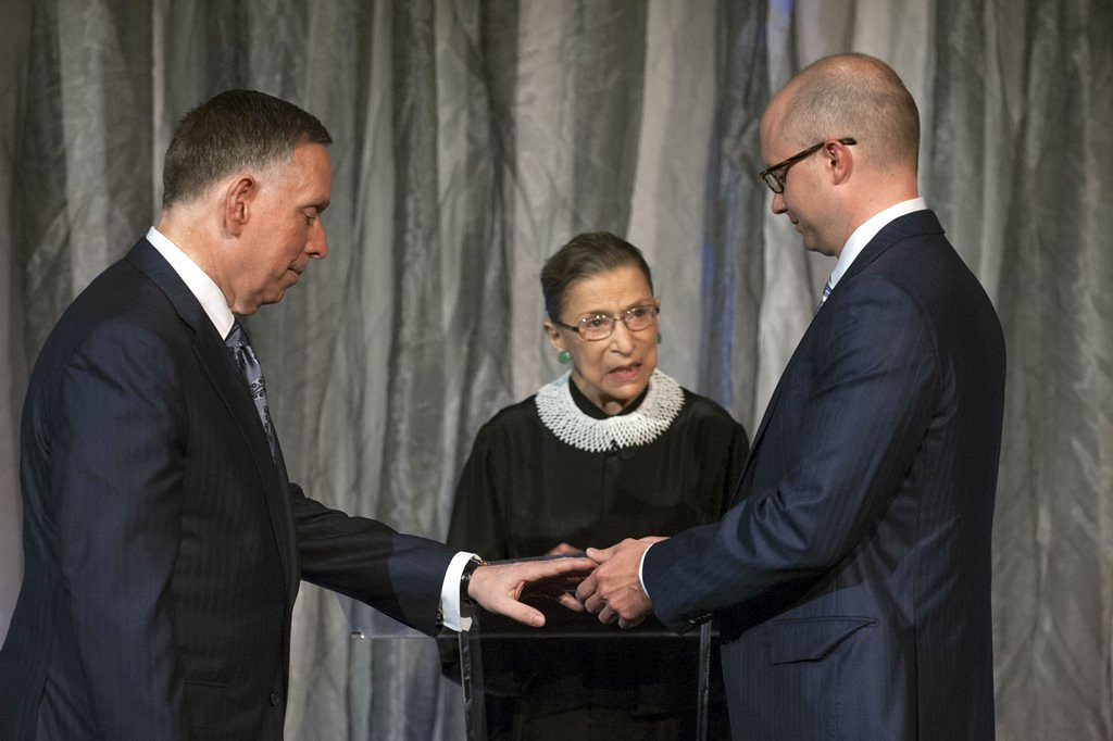 ". <p><b> Supreme Court Justice Ruth Bader Ginsburg made history when she officiated at the wedding of � </b> <p> A. Two Washington men  <p> B. Two Virginia women  <p> C. Antonin Scalia and Anthony Kennedy  <p><b><a href=\'http://abcnews.go.com/blogs/politics/2013/08/justice-ginsburg-presides-at-same-sex-wedding/\' target=""_blank\"">HUH?</a></b> <p>   (AP Photo/The Kennedy Center, Margot Schulman)"