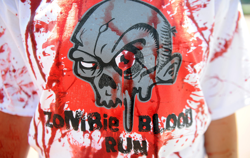 . The Zombie Blood Run at Santa Anita Park on Saturday, Aug. 17, 2013 in Arcadia, Calif. The American Red Cross San Gabriel Pomona Valley chapter is partnering with the Zombie Blood Run to prepare the San Gabriel Valley for a disaster, even a zombie apocalypse.  (Keith Birmingham/Pasadena Star-News)