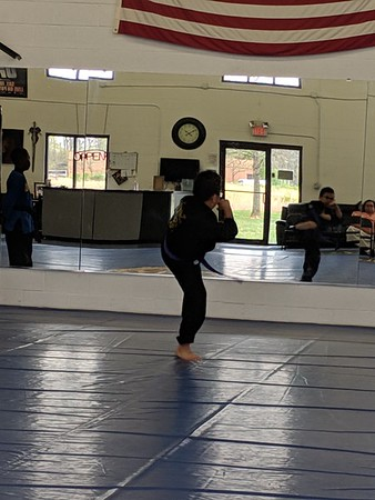 2019-04-13 Tre's Red Belt Testing