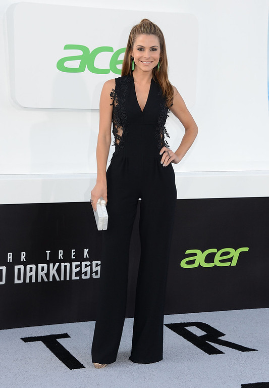 """. Tv host Maria Menounos attends the premiere of Paramount Pictures\' \""""Star Trek Into Darkness\"""" at Dolby Theatre on May 14, 2013 in Hollywood, California.  (Photo by Jason Kempin/Getty Images)"""