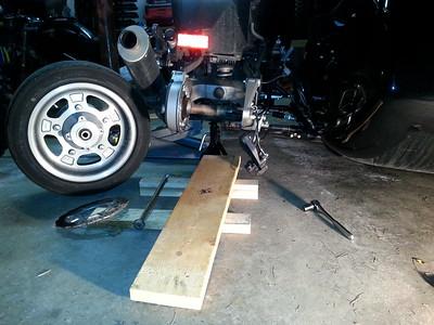 Sidecar Tire Change