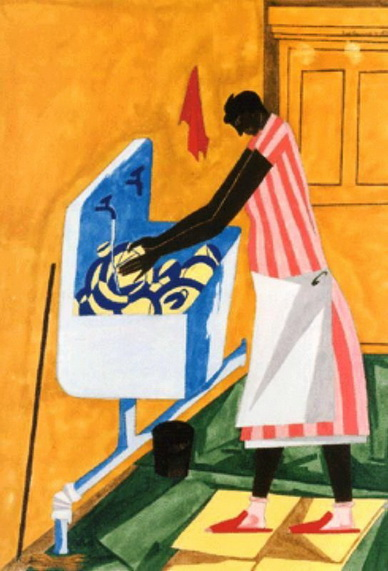 "Jacob Lawrence, ""Home Chores,"" 1945"