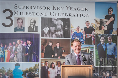Ken Yeager Celebrating Three Milestones