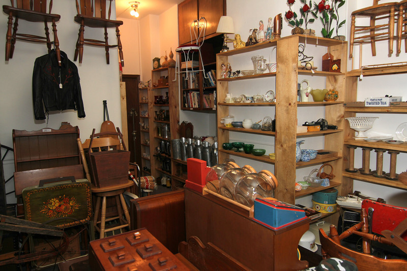 Interior of neat andorderly Antiques & Collectibles