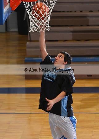 Boys varsity basketball Haslett at Lansing Catholic