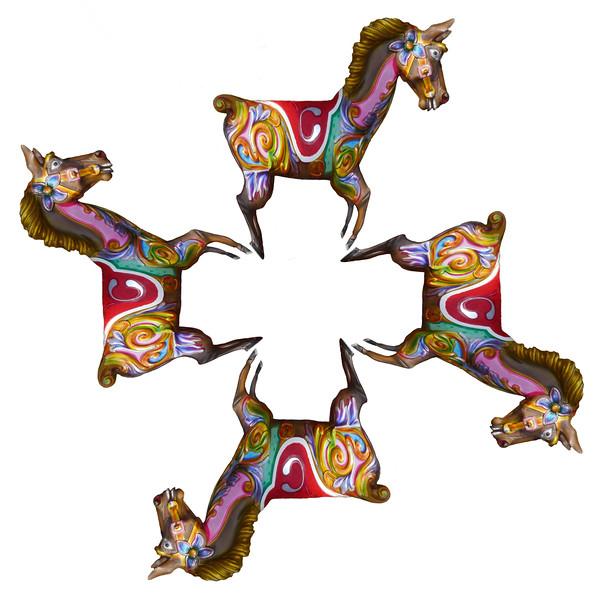 Carousel Horse~1395-3pcs.