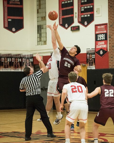 2020 Varsity Boys Basketball:  Hall-Dale vs Monmouth
