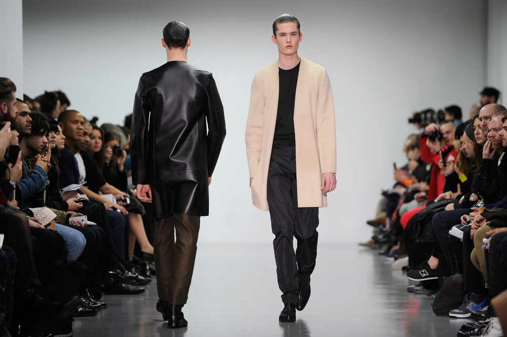 . A model walks the runway at the Lee Roach show during The London Collections: Men Autumn/Winter 2014 on January 6, 2014 in London, England.  (Stuart C. Wilson/Getty Images)