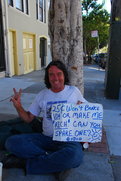 This is my new favorite homeless guy.