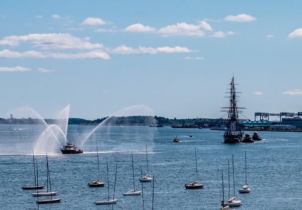 USS Constitution Turnaround in Boston Harbor