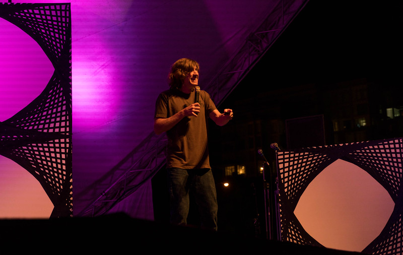 Rodney Mullen, professional skateboarder, presents at Thinklandia 2016.