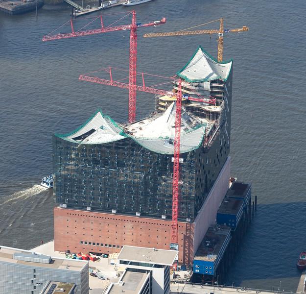 Luftbild Elbphilharmonie HafenCity Hamburg