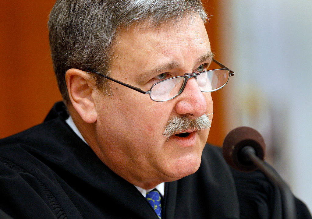 . Superior Court Judge Curtis E.A. Karnow questions the attorneys present Sunday, Aug. 11, 2013. He agreed to a request by Gov. Jerry Brown for a 60-day cooling-off period in the BART negotiations. Trains will run no matter how the talks between BART management and the unions go.  (AP Photo/San Francisco Chronicle, Brant Ward, Pool)