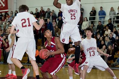 1/10/15: Boys' Varsity Basketball vs Gunnery