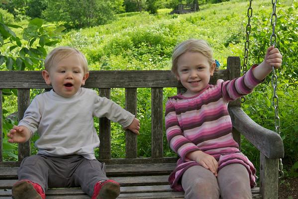 2012-06-03 Clara & Kieran Visit Tower Hill Botanical Gardens