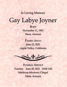 2021-06-29 Gay Joyner's Funeral & Cousins Luncheon