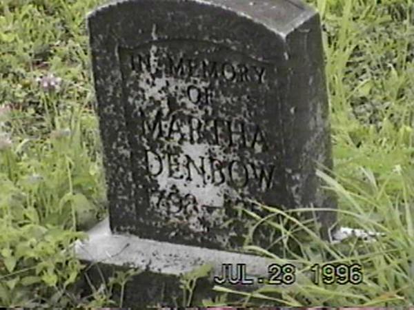 Martha Denbow Grave