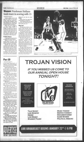 Daily Trojan, Vol. 142, No. 2, January 10, 2001