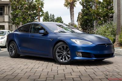 Tesla Model S - Blue Metalllic XPEL Stealth Wrap