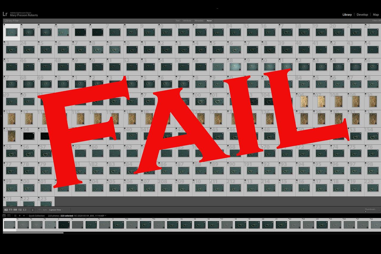 Roll of Film Fail